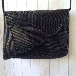Vintage | Beaded Black Purse